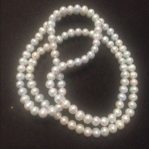 8-9mm light blue cult pearl necklace